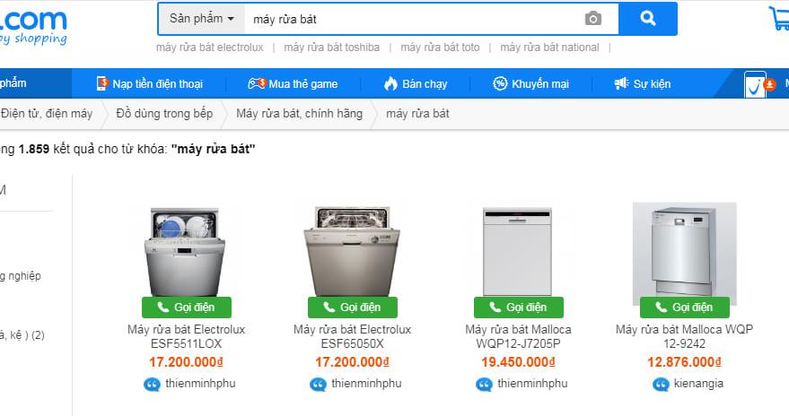 máy rửa chén công nghiệp ở vật giá